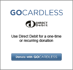 Click to donate by GoCardless