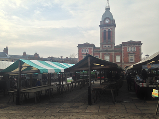 Empty Tables at Chesterfield Market